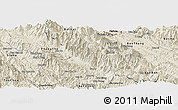 Shaded Relief Panoramic Map of Sa Pa