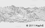 Silver Style Panoramic Map of Sa Pa