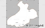 Gray Simple Map of Sa Pa, cropped outside