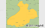 Savanna Style Simple Map of Sa Pa