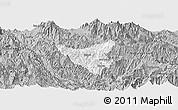 Gray Panoramic Map of Than Uyen