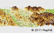 Physical Panoramic Map of Than Uyen