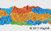 Political Panoramic Map of Than Uyen