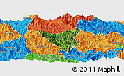 Satellite Panoramic Map of Than Uyen, political outside