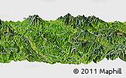 Satellite Panoramic Map of Than Uyen