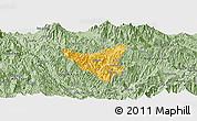 Savanna Style Panoramic Map of Than Uyen