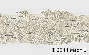 Shaded Relief Panoramic Map of Than Uyen