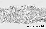 Silver Style Panoramic Map of Than Uyen