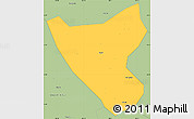 Savanna Style Simple Map of Than Uyen
