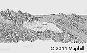 Gray Panoramic Map of Van Ban