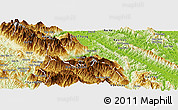 Physical Panoramic Map of Van Ban