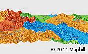 Political Panoramic Map of Van Ban