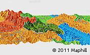 Satellite Panoramic Map of Van Ban, political outside