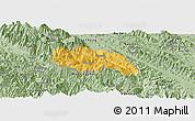Savanna Style Panoramic Map of Van Ban
