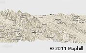 Shaded Relief Panoramic Map of Van Ban