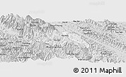 Silver Style Panoramic Map of Van Ban