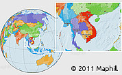 Political Location Map of Vietnam