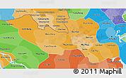 Political Shades 3D Map of Long An