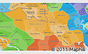 Political Shades Map of Long An