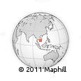 Outline Map of Long An