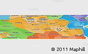 Political Shades Panoramic Map of Long An