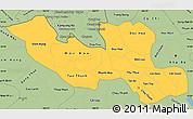 Savanna Style Simple Map of Long An