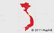 Flag Map of Vietnam, flag rotated
