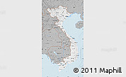 Gray Map of Vietnam