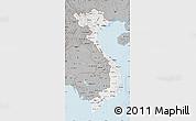 Gray Map of Vietnam