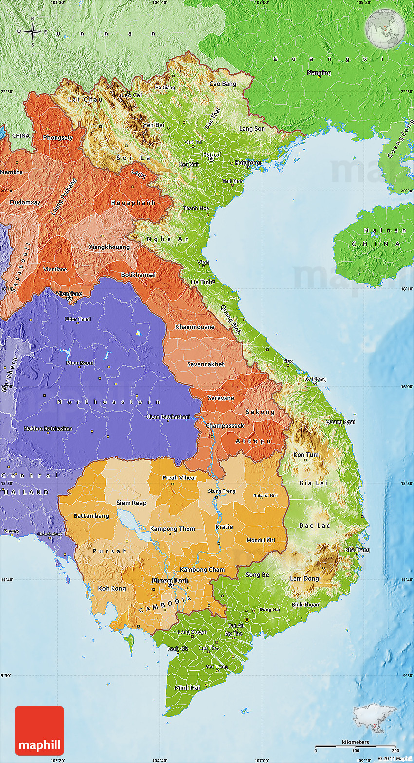 Vietnam physical map wyoroadfo map physical map of vietnam political shades outside shaded relief sea physical map of vietnam political shades publicscrutiny Images