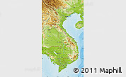 Physical Map of Vietnam