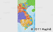 Political Map of Vietnam, political shades outside