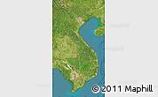 Satellite Map of Vietnam