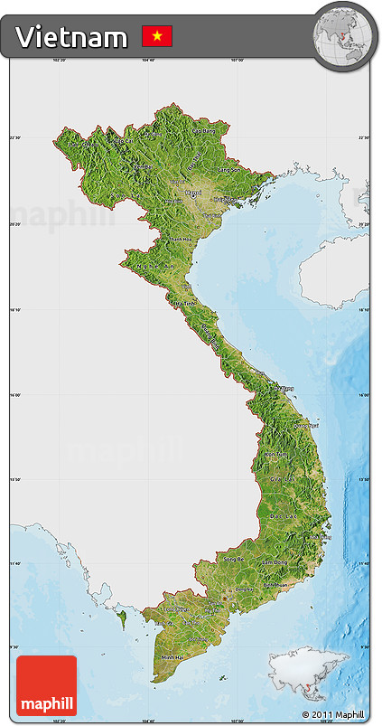 Free satellite map of vietnam single color outside bathymetry sea satellite map of vietnam single color outside bathymetry sea shaded relief sea publicscrutiny Gallery