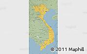 Savanna Style Map of Vietnam