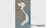 Shaded Relief Map of Vietnam, darken
