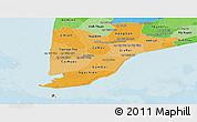 Political Shades Panoramic Map of Minh Hai