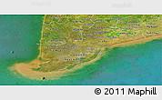 Satellite Panoramic Map of Minh Hai