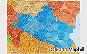 Political Shades 3D Map of Nghe An