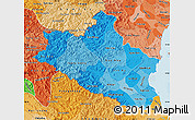 Political Shades Map of Nghe An