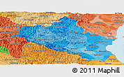 Political Shades Panoramic Map of Nghe An