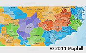 Political Shades 3D Map of Ninh Thuan