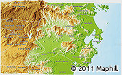 Physical 3D Map of Ninh Son