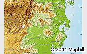 Physical Map of Ninh Son