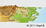 Physical Panoramic Map of Ninh Son