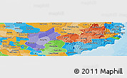 Political Panoramic Map of Ninh Thuan, political shades outside