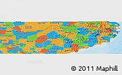 Political Panoramic Map of Ninh Thuan