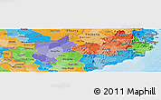 Political Shades Panoramic Map of Ninh Thuan
