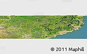 Satellite Panoramic Map of Ninh Thuan