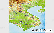 Physical Panoramic Map of Vietnam